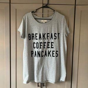 Oversized Zara Breakfast Coffee Pancakes Tee